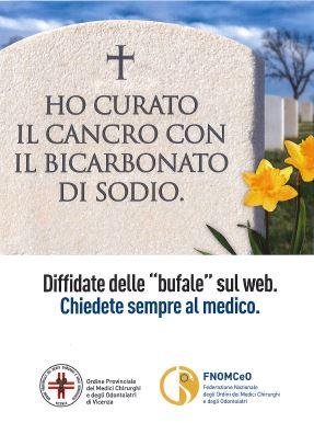 Campagna FNOMCeO - ho curato il cancro col bicarbonato